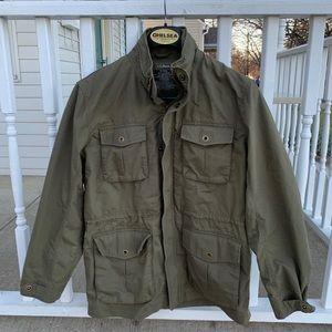 L.L.Bean Field Jacket Hooded Barn Canvas Militar M
